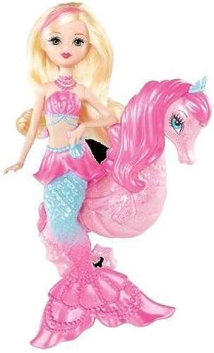 venta caliente Mattel Barbie bdb51 La mágico perlas sirena y Caballito de de de mar, muñeca con Tierchen  ventas en línea de venta