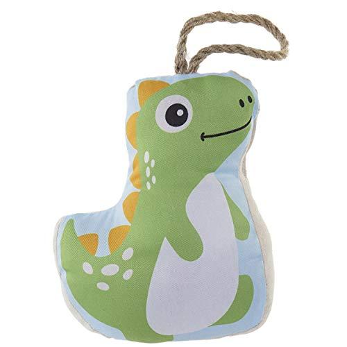 Sujeta-Puertas Decorativo de Dinosaurio, Sujetapuertas Poliester. Diseño Baby, Estilo Infantil (15X10X22cm) - Hogar y Más - A