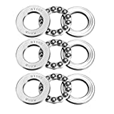 uxcell 51103 Single Direction Thrust Ball Bearings 17mm x 30mm x 9mm Chrome...