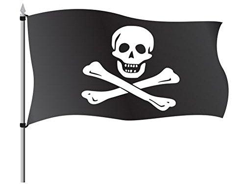 Hemore Pirat Flagge Fahne [90x150cm] NEU Wetterfest Flag