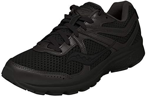 Saucony Women's Cohesion 11 Running Shoe, Black, 7 Medium US