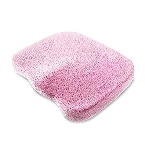 Memory Foam Coccyx-Sitzkissen, Premium-Orthopädisches Polster für Rückenschmerzen, Steißbeinschmerzen und Ischias Ergonomisches Kissen für Home Office-Auto-Stuhl-Rollstuhl,Pink