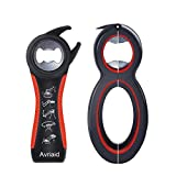 All in One Bottle Opener, Can, Soda, and Jar Openers, Twist Off Lid – Jar Opener for Seniors and Arthritic...