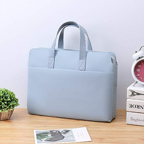 JUFENGYAO Laptop Bag For Lenovo Air 13.3 MacBook for Xiaomi for Huawei Matebook 14inch Computer Bag 15.6 Female Pro15 Dell 13 Sleeve Handbag (Color : Light Blue, Size : 14 15inch)
