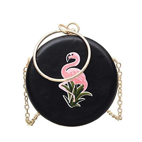 Vrouwen Avond Koppeling Tas Borduurwerk Flamingo Ketting Doos Tassen Circulaire Handtas Dames Messenger Tassen voor Feesten Bruiloft Clubs