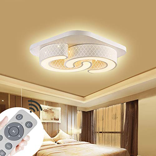 Lámpara de techo regulable LED 64W Lámpara de techo Cuadrado Ahorro de energía Salón Dormitorio Corredor Pantalla de...