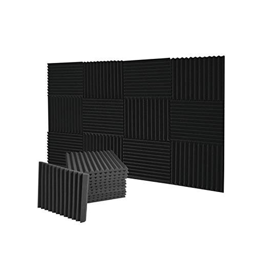 "Wingogh Acoustic Panels Acoustic Foam - Sound Proof Foam Panels, Acoustic Foam Panels Studio Foam Wedges, Sound Absorbing Wall Panels, 12 Pack Soundproof Foam Panels 1"" X 12"" X 12"""
