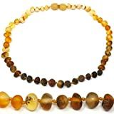 Mama Natural Amber Necklace - 12.5' - Truly Raw 100% Baltic Amber (Rainbow)