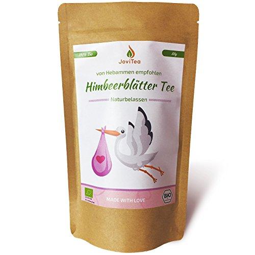JoviTea® Himbeerblättertee BIO 80g - Kräutertee - auch während der Geburtsvorbereitung - Schwangerschaftstee - 100% natürlich und ohne Zusatz von Zucker. Aus Biologischem Anbau. Himbeerblätter 80g
