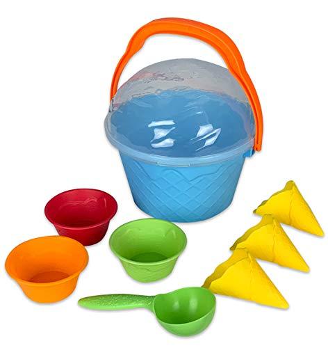 Prime Time Toys Wet N? Wild Ice Cream Sand Set - 9 Pieces Sand Play Set