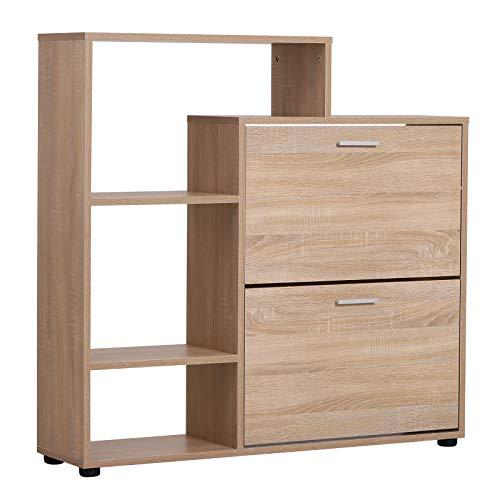 Homcom Salvaspazio 20 Paia Schoenenkast van hout, 101,5 x 25,5 x 98 cm