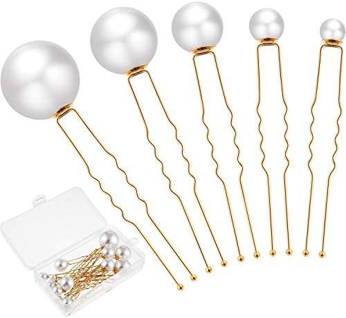 18 Pieces Wedding Pearl Hair Pins Bridal Pearl Rhinestone Hair Pins Hair Accessories for Bride product image