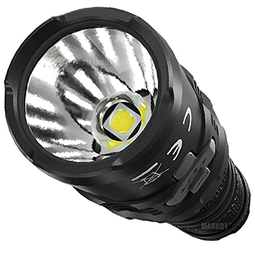 ZGLXZ MH12S 1800 Lumens Linterna Recta Omnidireccional, Equipada con Una Batería De 5000Mah, Utilizando La Carga USB-C, Adecuada para Linterna LED Exterior E Interior