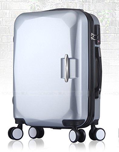 MFCJK Fashion Bagage Sets Lichtgewicht Duurzame Spinner Suitcase, koffer Zwart 20 Inches 35 * 23 * 50cm Paars Travel koffer Wielen Zijgreep outdoor