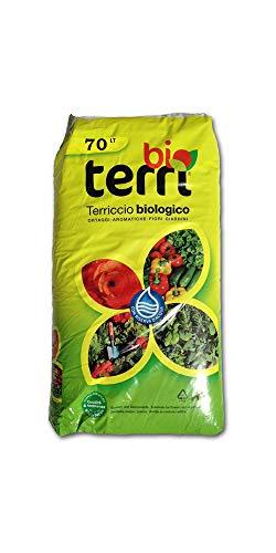 5 Sacchi Da 70 LT Terriccio Universale Biologico Substrato Organico Naturale