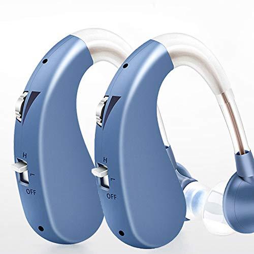 YJY Solución Amplificador Auditivo De Mini Sonido Amplificador De Audio Personal Recargable Control De Volumen Y Reducción De Ruido Adecuado para Muchas Ocasiones,Pair