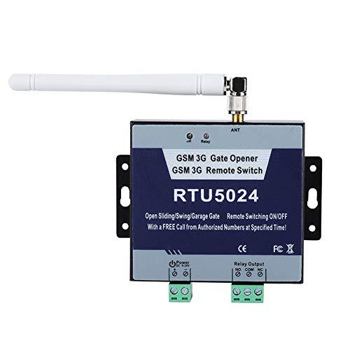 GSM Abridor de Puerta Control, Remoto On/Off Llamada y SMS Gratuita remoto de puerta Control, Alarma remota Adecuado para puertas, pilares, cercas Soporta850/900/1800/1900MHz