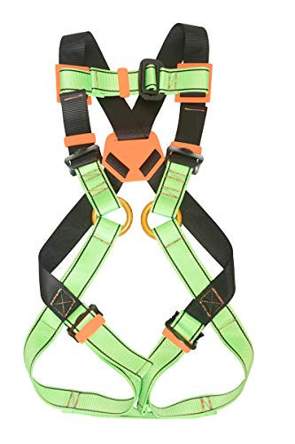 HeeJo Kids' Full Body Harness, Youth Safety Harness Comfort Zipline Climbing Harness Belts for Tree Climbing Outdoor Expanding Training, Caving Rock Rappelling 7 to 13 Years