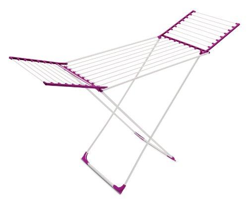 Meliconi Stendibiancheria Lock Classic, 22 mt, acciaio resinato, Fucsia, 55.5 x 132.5 x 3.38 cm. Made in italy, metallo, ripiegabile