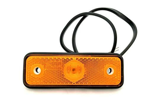 Orange LED Begrenzungsleuchte Seitenleuchte 12V 24V Umrissleuchte für LKW PKW Anhänger, Trailer, Wohnwagen usw. 102x36x17 mit Kabel