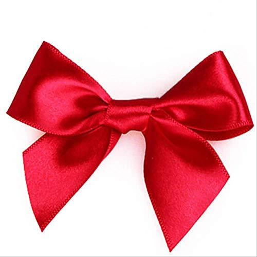 Geschenkdoos BLTLYX 10st Geschenkdoos Drageespillow Vorm Verjaardagsverpakking Feestdozen Zoet Gunst Kussenslopen Snoepkoekje 14 * 7cm 10st-Rode-strik