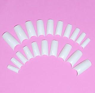 ネイルチップ チップオーバーレイ用 20枚入 フレンチホワイト スカルプチャー つけ爪付け爪