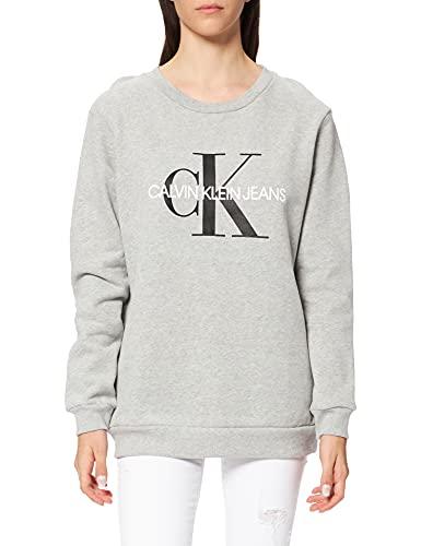 Calvin Klein J20J207877 Sudadera, Gris (Light Grey Heather 038), XS para Mujer