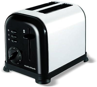 Morphy Richards Accents 2 Slice Toaster 44063 Jet Black