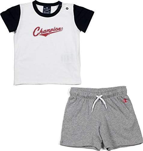 Champion Kids Clothing Set Training Tshirt Shorts Sports Fashion Boy 304944W Gym