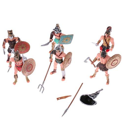 6 Pezzi Modello Gladiatori Romani Antiche Esercito Militare Azione Figure Gioco Set Fai Da Te Plastica Regale
