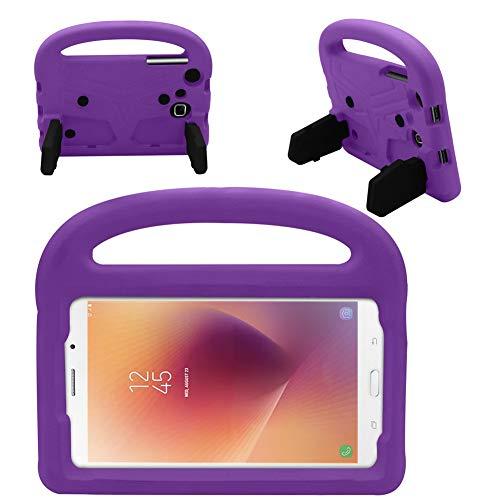 GHC Pad Fundas & Covers para Samsung Galaxy Tab A A6 7.0 Pulgadas, Funda de Silicona a Prueba de Golpes para niños para Samsung Galaxy Tab A A6 7.0 Pulgadas 2016 SM-T280 SM-T285 (Color : Purple)
