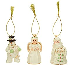 Christmas Ornament with 24k Accents 3 PC set (Santa, Snowman, Angel)
