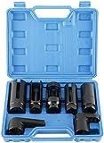 8MILELAKE 7pcs Oxygen Sensor Socket Wrench Set