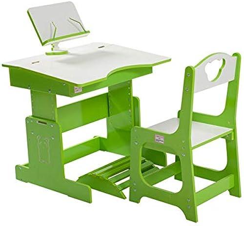 Kinder lernen schreibtisch,H  verstellbar kinder schreiben schreibtisch und stuhl Learning desk Kinder schreibtisch stuhl - buchstütze bietet richtigen winkel zum lesen -Grün 70x5cm(28x22inch)