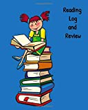 Reading Log and Review: Book Journal and Reviews, Reading log and review organizer, 8 x 10 Notebook includes Author , Title, Plot Summary, Characters, Quote, Notes, Ratings, Blue Cover