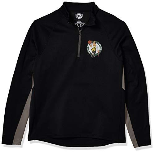 OTS NBA Boston Celtics Men's Poly Fleece 1/4-Zip Pullover, Logo, Large