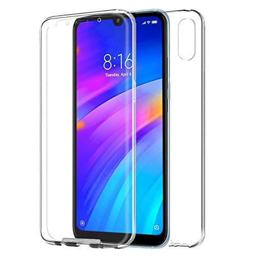 TBOC Cover per Xiaomi Redmi 7A [5.45 Pollici] - Custodia [Trasparente] Completa Copertura Integrale [Silicone TPU] Protezione Totale [360 Gradi] Full Body Anteriore Posteriore Sottile