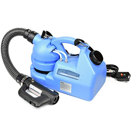 Vinpie Portable ULV Fogger Machine, 7L Electric Disinfection Intelligent Cold Fog Sprayer with Power 850W 110V, for Station, School, Restaurant, Garden, Home
