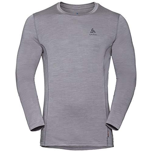 Odlo Shirt Mens, Merino 130 BL Top Crew Neck l/s, Grey