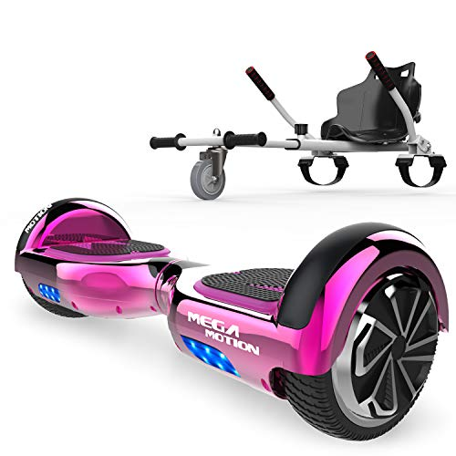 SOUTHERN-WOLF Self-Balancing Scooter, Hoverboard 6,5zoll Hover Scooter Board Bluetooth Scooter mit bunten Lichter Bluetooth eingebaute Geschenk für z29 (Rose red)