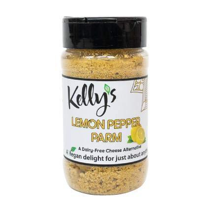 Kelly's Gourmet Lemon Pepper Parmesan, 1-Pack, Cashew Based Cheese