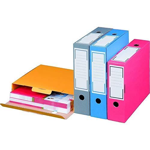 Archiv-Ablagebox farbig Schmal 80 mm Blau Archivschachtel Archivkarton 20 Stück