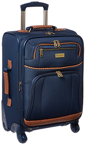 Tommy Bahama Expandable Spinner Carry On Suitcase, Navy