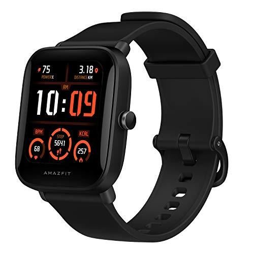 Amazfit Bip U Pro Smart Watch Reloj Inteligente con GPS Incorporado 60+ Modos Deportivos 5 ATM Fitness Tracker Oxígeno en Sangre Frecuencia cardíaca Monitor de sueño 1.43 Pantalla táctil
