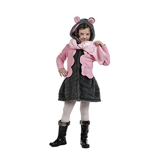 Limit Sport mantel en sjaal muiskostuum voor kinderen, maat 6 (MI940)