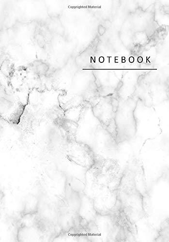 Notebook: Cuaderno de Mármol | tamaño A5, blanco | Cuaderno de Dibujo| Cuaderno de Bocetos | Notas - 110 páginas, superficie brillante.