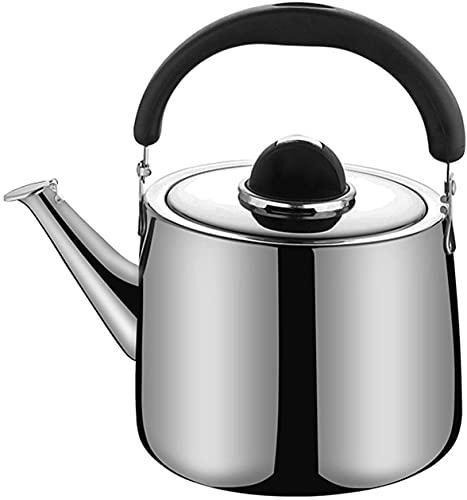Chihen Tetera Silbando Hervidor de té de Acero Inoxidable, Tetera de Silbato de Gran Capacidad, cafetera con Mango ergonómico 210930(Size:8L)
