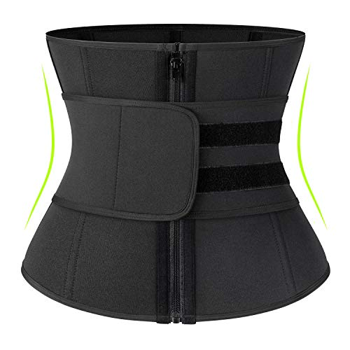 KIWI RATA Neoprene Sauna Waist Trainer Corset Sweat Belt for Women Weight Loss Compression Trimmer Workout Fitness