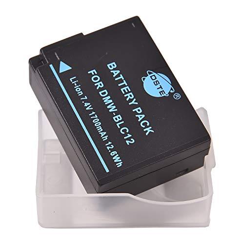 DSTE Ersatz Batterie Akku for Panasonic DMW-BLC12E DMW-BLC12PP Lumix DMC-G5 DMC-G6 DMC-G7 DMC-GH2 DMC-FZ200 DMC-FZ200GK DMC-FZ1000 V-LUX4 Leica Q Kamera