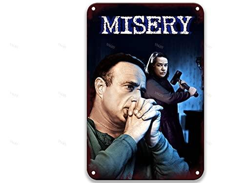 NNHG Misery (1990), Vintage-Filme, Metall-Blechschilder, Poster, Kunstgruppe für Party, Büro, Küche, Heimdekoration, Wand, 20,3 x 30,5 cm